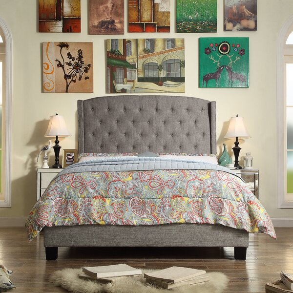 Mildred 100% Linen Upholstered Standard Bed by Willa Arlo Interiors